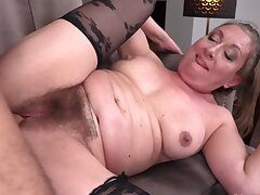Marketable mature lady loves to be fucked by big-dicked studs