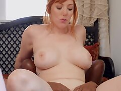 Interracial lesbian action with ebony babe and busty bazaar