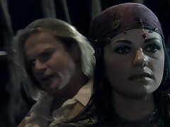 Handsome pirate with a big dick bangs two sexy babes