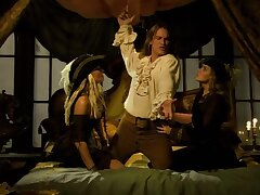 Two horny babes pleasing a well hung pirate