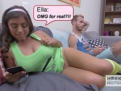 Big boobs GF Ella Knox is cheating beyond her indifferent boyfriend