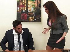 Sexy milf boss Syren De Mer exploits employee of unearth hd