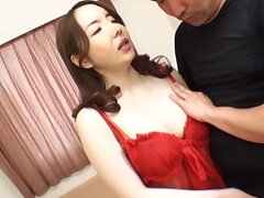 Closeup video of a horny Japanese MILF having vibrant sex