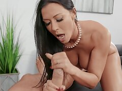 Messy facial grand finale for reward wife Rachel Starr after crazy fucking