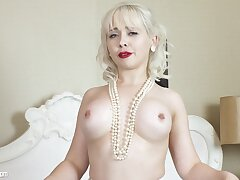 MILF Blondie Cherry Poses For Me and You