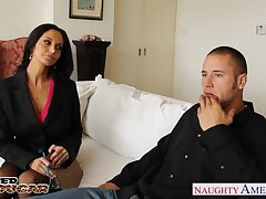 Sexiest cougar Ava Addams seduces young baffle Danny Rafts together with rides hard cock