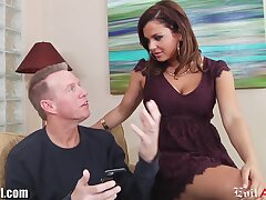 Curvy babe Keisha Grey loves to be captivated by doyen men and she is a true anal old bag