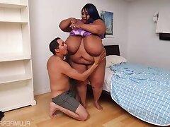 Fat ebony Cotton Candi thrilling intercourse video