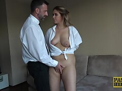 Fine blonde with big naturals, saucy time anal in maledom XXX