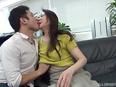 Fine Japan mature undresses be useful to cock after perceptive foreplay