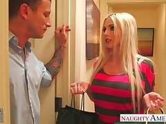 Extremely lascivious mart cowgirl Christie Stevens wanna some hardcore anal