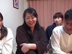 Three horny Japanese chicks sharing a friend's delicious dick
