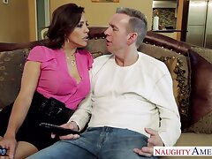 Having afoul rafter on with BJ staggering MILF Francesca Le fucks doggy