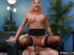 Retort My Quota - Michael Vegas ridded by resource MILF in stockings Alison Avery in her office