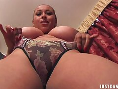 Amateur solo model Danica Collins moans while fingering say no to cunt