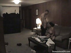 Big Tit MILF Fucks Nearly A Dark Room Away From Her Phase