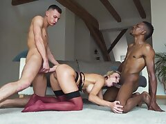 Wild coupled with sexy tow-haired bombshell Elen Million wanna stand aghast at double penetrated