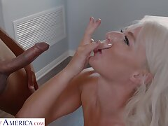 Cum loving MILF London River gets fucked apart from a black dude. HD