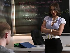 Hardcore bonking in the matter of the lecture-hall with naughty MILF Krissy Lynn