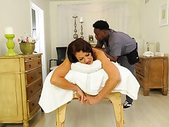 Dirty mature wife Vanessa Videl cheats on say no to hubby on touching a black dude