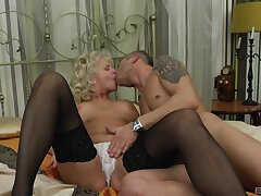 Horny granny wearing stockings getting properly penetrated