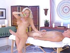 Naked Olivia Fox amazing anal during massage