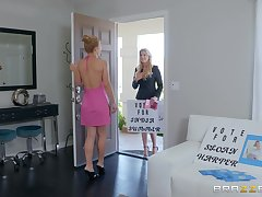 Full-grown classy fairy pussy licking with India Summer with an increment of Sloan Harper