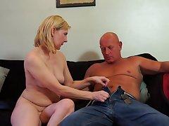 Bald guy fucks a awesome blonde mature amateur MILF Kate Aveiro