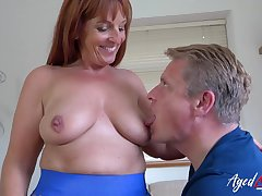 AgedLovE Exciting Mom enjoying Rough Hard Be wild about Mating