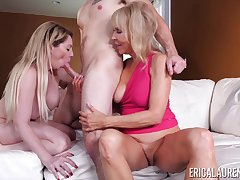 triplet with Erica Lauren with an increment of her pansy affiliate is the whack party ever