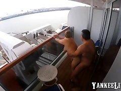 Sex exceeding the balcony