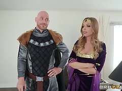 Costumed Britney Amber has amazing fucking power and likes role performance