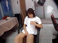 Chiharu Okuna is fingered and screwed by bloke