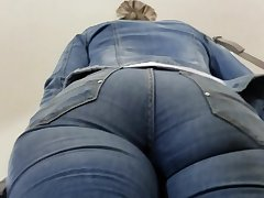 MILF's exasperation in tight jeans