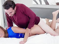 Stepson romping milf Christy Loves pussy on peak of his flannel