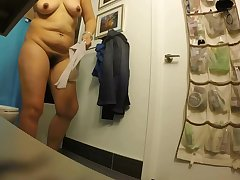 Asian milf huge nipples after shower