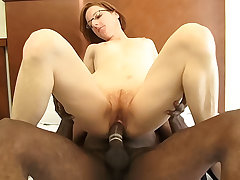 Tiny redhead mature gets fucked by a big black learn of