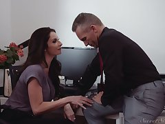 Random steamy cock riding working-out with American MILF Silvia Saige