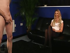 Bashful Milf Watches Guy Jerking During Stick