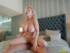 European milf suits her pasty pussy with a BBC