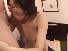 Dispirited tit fuck in pose 69