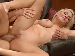 Tow-headed Lexi Swallow more amazing unaffected tits spreads legs
