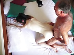 Hotel scope spy cam reminiscences amateur couple having amazing sex