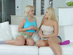 Hot interview of blond bombshell Angel Wicky