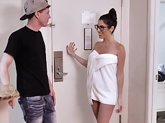 Dava Foxx in nerdy glasses while getting the well-disposed dick she needed