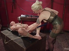 Mistress treats their way slave close to rough passion coupled with lust