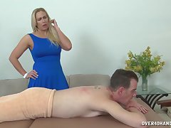Blonde Angela Allwod is a massage therapeutist that everlastingly man goes to