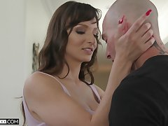 Sex-appeal wife with fake tits Lexi Luna is fucked and jizzed by horny husband