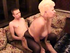 Amateur BBW Granny Fucked By The brush Younger Darling