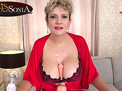 More jerk off instructions non-native busty mature Little one Sonia